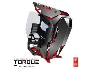 Antec Torque Black/Red Aluminum ATX Mid Tower Computer Case/Winner of iF Design Award 2019