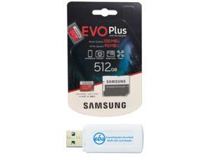 Samsung 512GB Evo+ Class 10 MicroSD Memory Card for Samsung Tablet Works with Galaxy Tab Active Pro, Tab S6 Lite, Tab A 8.4 2020 (MB-MC512) Bundle with (1) Everything But Stromboli Micro Card Reader