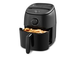Dash DCAF200GBBK02 Tasti Crisp Electric Air Fryer Oven Cooker with Temperature Control, Non-stick Fry Basket, Recipe Guide + Auto Shut Off Feature, 1000-Watt, 2.6Qt, Black