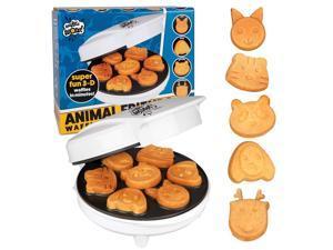 CucinaPro Animal Mini Waffle Maker- Makes 7 Fun, Different Shaped Pancakes - Electric Non-Stick Waffler