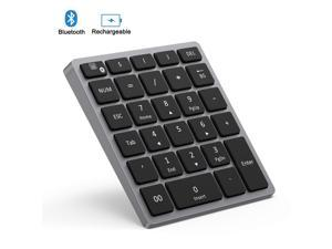 e372ba1c978 Bluetooth Numeric Keypad Rechargeable, Jelly Comb Portable Wireless  Bluetooth 28-Key Number Pad with