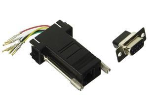 Networx Modular Adapter Kit - DB9 Female to RJ11 / RJ12 - Black