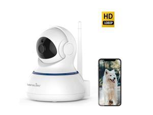 Security & Protection Baby Monitors 1080p Hd Network Camera Two-way Audio Wireless Network Camera Night Vision Motion Detection Camera Robot Pet Baby Monitor Drip-Dry