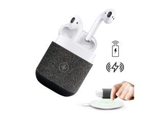 AirPods Case Cover, Uervoton Wireless Charging Case Accessories Protective Case for AirPods Wireless Charging, Compatible Any Qi Standard Wireless Charging Mats (Gray)