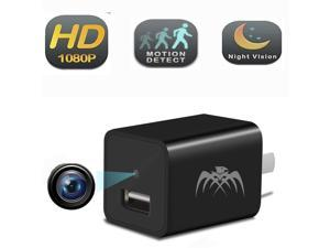 Dedicated 5 Usb Ports Charger Motion Detection Adapter Wifi Spy Hidden Camera Hd 1080p Cam Volume Large Camera & Photo