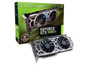EVGA GeForce GTX 1080 Ti SC2 Gaming, 11GB GDDR5X, iCX Technology - 9 Thermal Sensors & RGB LED G/P/M, Asynch Fan, Optimized Airflow Design Graphics Card 11G-P4-6593-KR
