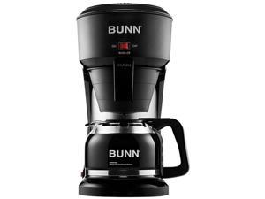 BUNN - Speed Brew 10-Cup Coffee Maker - Black/Stainless Steel Accent