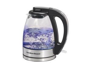 Hamilton Beach - 1L Electric Kettle - Black/Stainless Steel