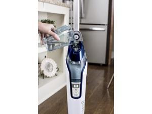 BISSELL - PowerFresh Deluxe Steam Mop Hard Floor Cleaner - Brite White/Saphire Waltz