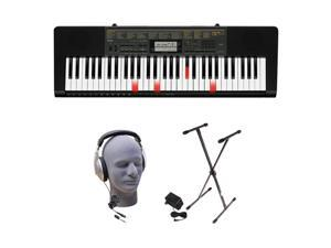 Casio - Portable Keyboard with 61 Velocity-Sensitive Keys - Black