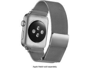 Platinum - Magnetic Stainless Steel Mesh Band for Apple Watch?® 42mm - Sil