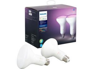 Hue White & Color Ambiance BR30 Bluetooth Smart LED Bulb (2-Pack) - Multicolor