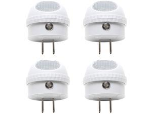 ClearMax 4 Pack LED Night Light with Built-in Dusk to Dawn Sensor - Soft White - Type A Plug - 0.3W AC 125V 2700K