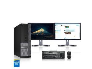 "Refurbished: Dell Optiplex Desktop Computer 3.1 GHz Core i5 Tower PC, 4GB, 250GB HDD, Windows 10 Home x64, 19"" Dual ..."
