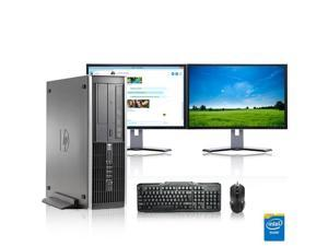 """HP DC Desktop Computer 3.0 GHz Core 2 Duo Tower PC, 2GB, 160GB HDD, Windows 7 x64, 19"""" Dual Monitor , Radeon 128MB DDR2, USB Mouse & Keyboard"""