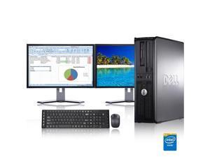 "Dell Optiplex Desktop Computer 2.3 GHz Core 2 Duo Tower PC, 4GB, 250GB HDD, Windows 10 x64, Office 365 Essentials, 19"" Dual Monitor , Radeon 128MB DDR2, USB Mouse & Keyboard"
