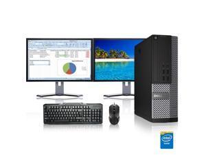 "Dell Optiplex Desktop Computer 3.0 GHz Core 2 Duo Tower PC, 4GB, 1TB HDD, Windows 10 x64, 20"" Dual Monitor , Radeon 128MB DDR2, USB Mouse & Keyboard"