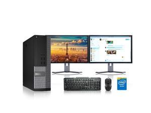 "Dell Optiplex Desktop Computer 3.1 GHz Core 2 Duo Tower PC, 8GB, 250GB HDD, Windows 10 x64, 17"" Dual Monitor , Radeon 128MB DDR2, USB Mouse & Keyboard"