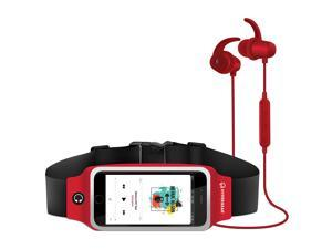 HyperGear ActiveGear Wireless Earphones + Sport Belt Set with High Definition Stereo Sound,Wireless Music + Calls,Bluetooth Version: 4.1 and Superior Battery Life (Red)