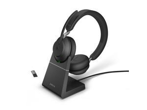 Jabra Evolve2 65 USB-A MS Stereo with Charging Stand - Black Wireless Headset / Music Headphones