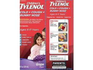 Tylenol Kid's Cold+Cough+Runny Nose, Grape, 4oz