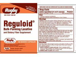 Rugby Reguloid Bulk-Forming Laxative Capsules, 160ct