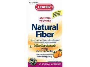 Leader Natural Fiber Supplement Powder, Orange, 20.3oz