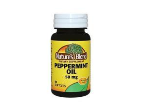 Nature's Blend Peppermint Oil Softgels, 50mg, 60ct 079854093612A650