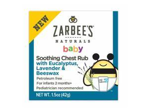 Zarbee's Naturals Baby Soothing Chest Rub, 1.5oz 858438005414S420