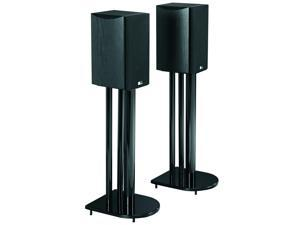 """24"""" Home Theater Surround Sound Speaker Stands - Gloss Black"""
