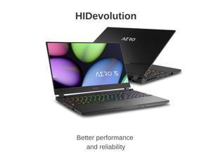 "HIDevolution Gigabyte AERO 15 OLED XB-8US51B0SP 15.6"" UHD AMOLED | 2.3 GHz i7-10875H, RTX 2070 Super Max-Q, 16 GB 2666MHz RAM, 512 GB PCIe SSD | Authorized Performance Upgrades & Warranty"