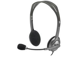 Logitech H111 Wired Stereo Headset (981-000612),Grey