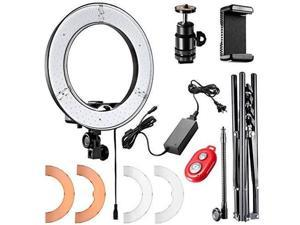 Neewer 12-inch Inner/14-inch Outer LED Ring Light and Light Stand 36W 5500K Lighting Kit with Soft Tube,Hot Shoe Adapter,Bluetooth Receiver for Camera Smartphone YouTube, TikTok Video Shooting