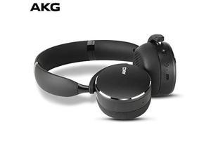 AKG by Harman Y500 On-Ear Bluetooth Headphones with Ambient Aware Technology Black