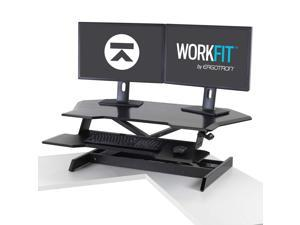 Ergotron - 33-468-921 - Ergotron WorkFit Corner Standing Desk Converter - Up to 30 Screen Support - 35 lb Load Capacity