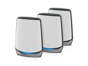 NETGEAR Orbi RBK853 - Wi-Fi system (router, 2 extenders) - mesh - GigE, 2.5 GigE, 802.11ax - 802.11a/b/g/n/ac, 802.11a/b