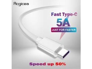 5A USB Type-C Cable USB 3.1 Fast Charger Data Type-C Supercharge Cable For Samsung S8 S9 Huawei P10 P20 Pro Mate 10 USB C Cables (1pcs)