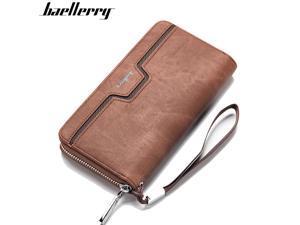 Handbag for Men Money Wallets Business Purse Foviza Zipper Large Capacity Cards Storage Bag