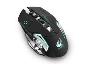 BINGFEI Computer Game Mouse Respiratory LED Backlight Gaming Mice X7 Double Click 7 Buttons USB Wired Optical,Black