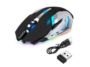 Color : Black Haodan electronics Mouse Mini 2.4GHz Wireless Optical Mouse Gamer for PC Gaming Laptops Game Wireless Mice with USB Receiver Input Devices