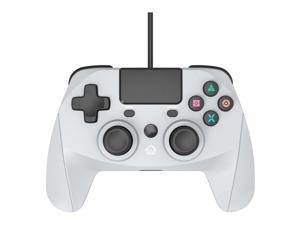 Snakebyte Gamepad for Playstation 4 - Wired PS4 Controller with 3m Cable - Nostalgic Playstation One Grey
