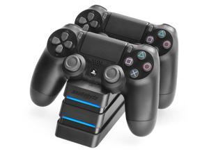 Snakebyte PS4 Twin:Charge 4 - Twin Docking Station for 2 Playstation 4 Dualshock Controller / Gamepad - Dual Charger
