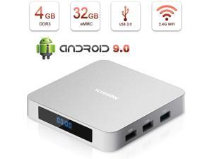 Android TV Box,HAOSIHD AI ONE Android 9.0 TV Box with 2.4G Voice Remote Control,4GB RAM 32GB ROM RK3328 Quad-core,Support 4K Full HD Bluetooth 4.0 Smart Internet TV Box