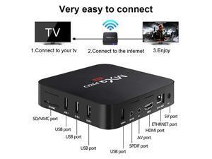 Android TV Box 9 0, 4GB+64GB Leelbox Q4 Plus Quad Core Smart TV Box Support  USB 3 0/BT 4 1/2 4GHz WiFi/3D/4K/H 265 - Newegg com