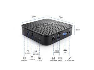 MINIX NEO G41V-4, Intel Gemini Lake N4100 Fanless Mini PC with Windows 10 Pro,4G DDR4/64GB eMMc 5.1/Triple-Display/HDMI 2.0/VGA Port/Displayport/Expandable Storage for Industrial and Commercial.