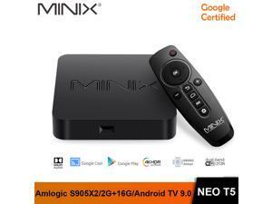 MINIX NEO T5 google certificated TV BOX Amlogic S905X2/ 2G 16G /Chromecast / 4K Ultra HD /Dolby Audio/ Android TV 9.0 Pie Media Hub