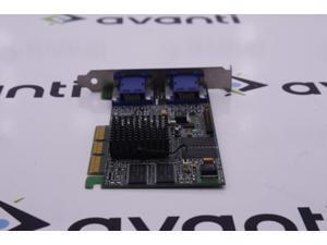 AGP card Matrox 975-0201 Rev A MGI G45+MDHA32DR Rev 207 Dual VGA MT06420
