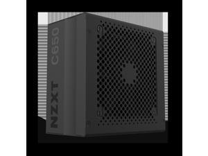 NZXT C650 NP-C650M 650 Watt PSU 80+ Gold Certified Hybrid Silent Fan Control Fluid Dynamic Bearings Modular Design Sleeved Cables ATX Gaming Power Supply, 10 Year Warranty