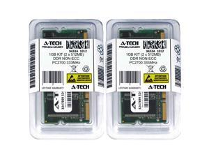 1GB Kit Lot 2x 512MB DDR Laptop PC2700 2700 333 333mhz 200-pin Memory Ram