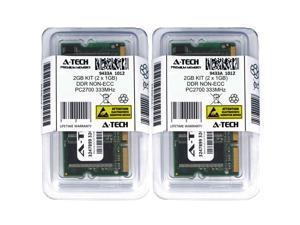 2GB Kit Lot 2x 1GB DDR Laptop PC2700 2700 333 333mhz 200-pin Memory Ram